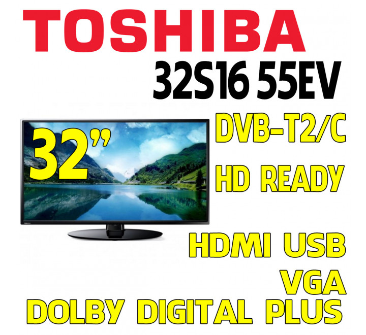 "TV Toshiba 32"" HD Ready 32S1655EV Nuova HDMI USB"