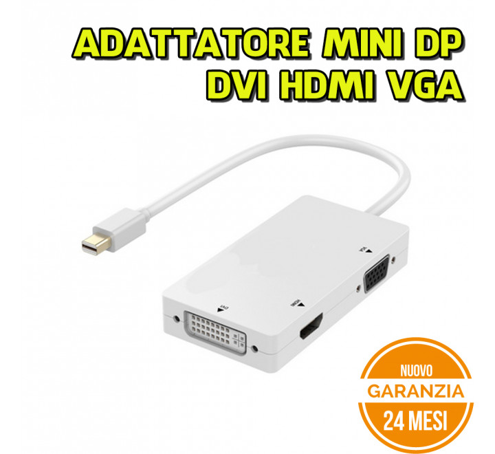 Adattatore Mini Display Port to VGA HDMI DVI Ewent - Nuovo
