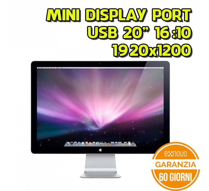 "Apple Cinema Display 24"" 1920x1200 16:10 Mini Display Port USB MagSafe - Grado B"