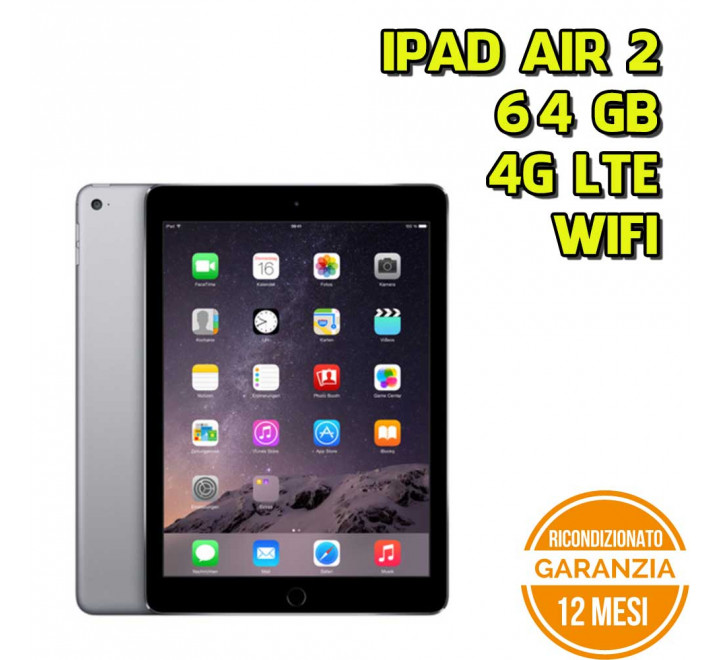 Apple iPad Air 2 64GB WiFi 4G Spacegray - Grado B