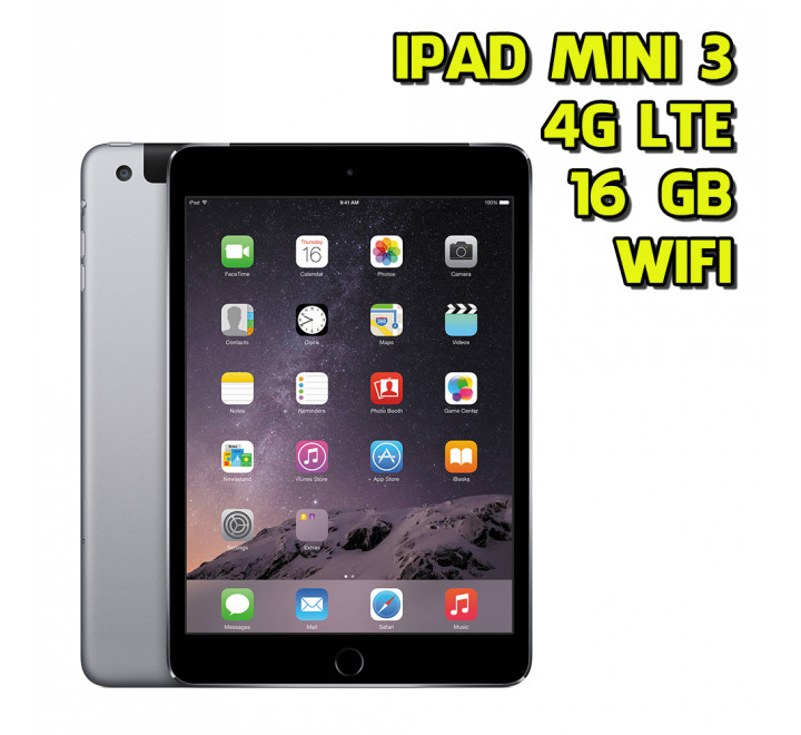 Apple iPad Mini 3 16GB WiFi Cellular Spacegray