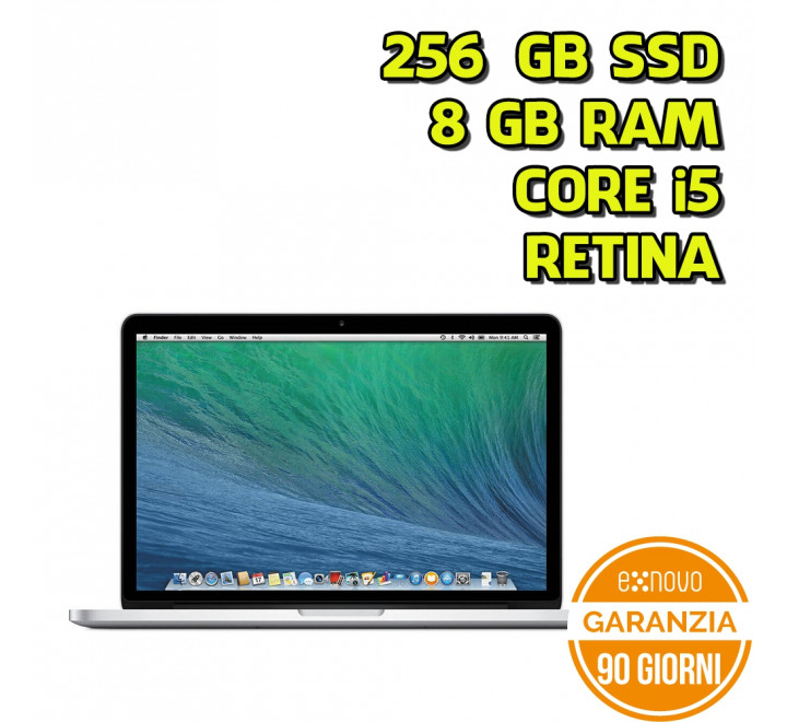 "Apple MacBook Pro Retina 13"" Intel Core i5-4258U 2,40GHz 8GB Ram 256GB SSD"