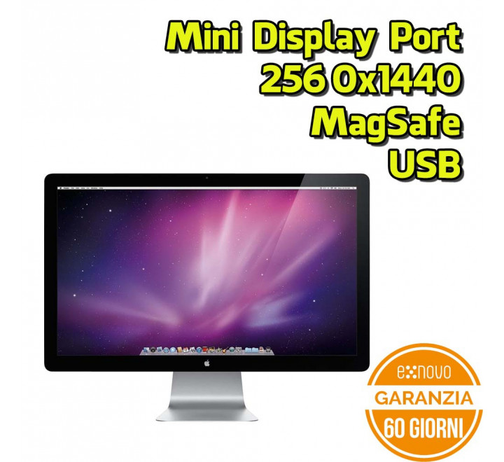 "Monitor Apple Cinema Display 27"" 2560x1440 16:9 Mini Display Port Magsafe USB Cam"