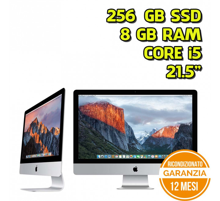 "All in One Apple iMac 21,5"" Intel Core i5-5575R 2,80GHz 8GB Ram 256GB SSD - Grado A"