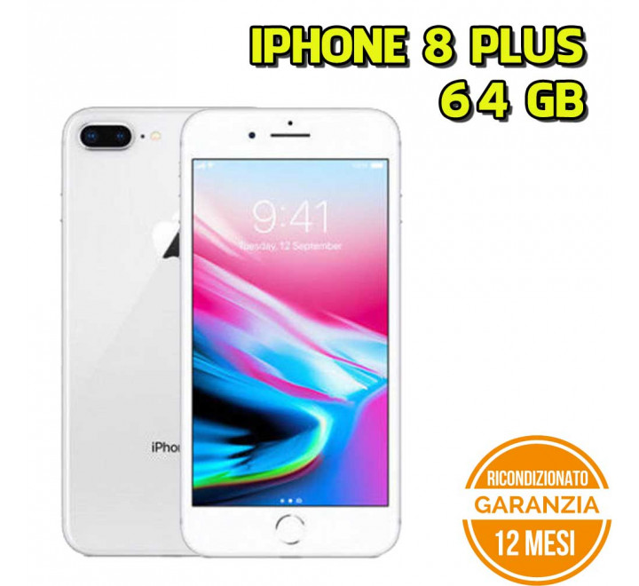 Apple iPhone 8 Plus Ricondizionato 64GB Silver - Grado A