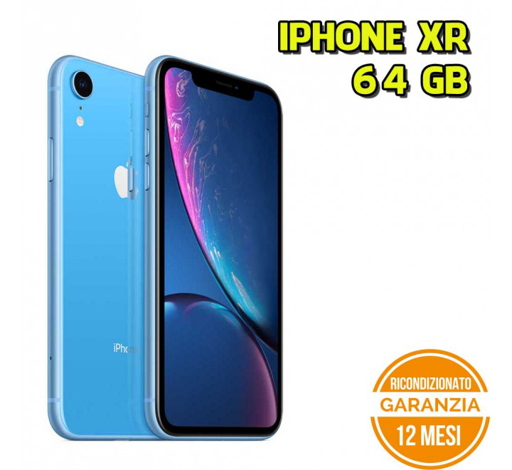 Apple iPhone XR ricondizionato 64GB Blue - Grado A