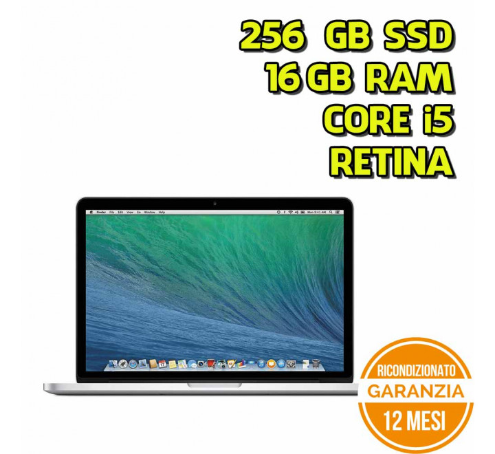 "Apple MacBook Pro 13"" Retina Intel Core i5-5257U 2,70GHz 16GB Ram 256GB SSD - Early 2015 - Grado A+"