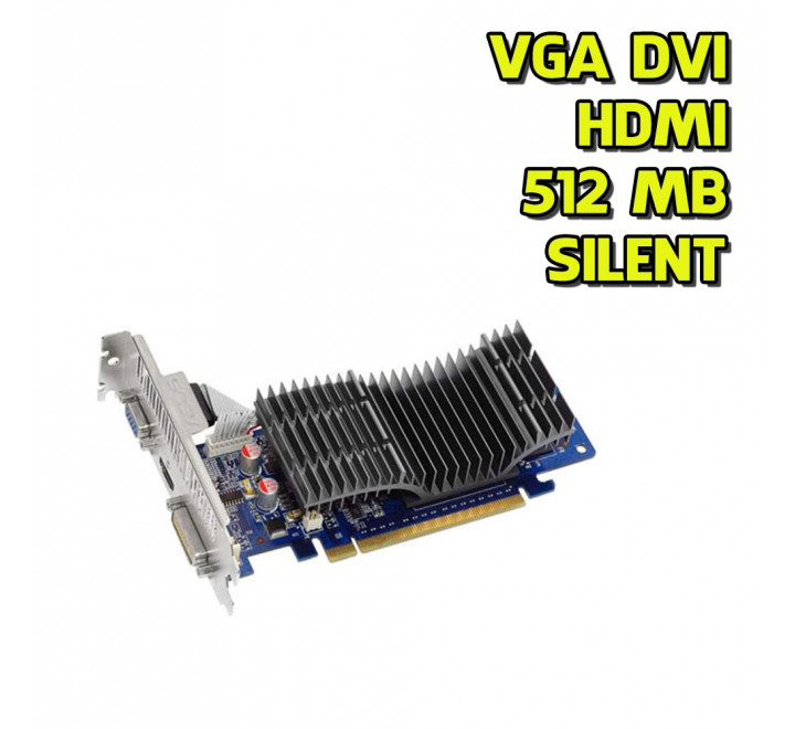 Scheda Video Asus GeForce 210 Silent 512MB DVI VGA HDMI High & Low-Profile