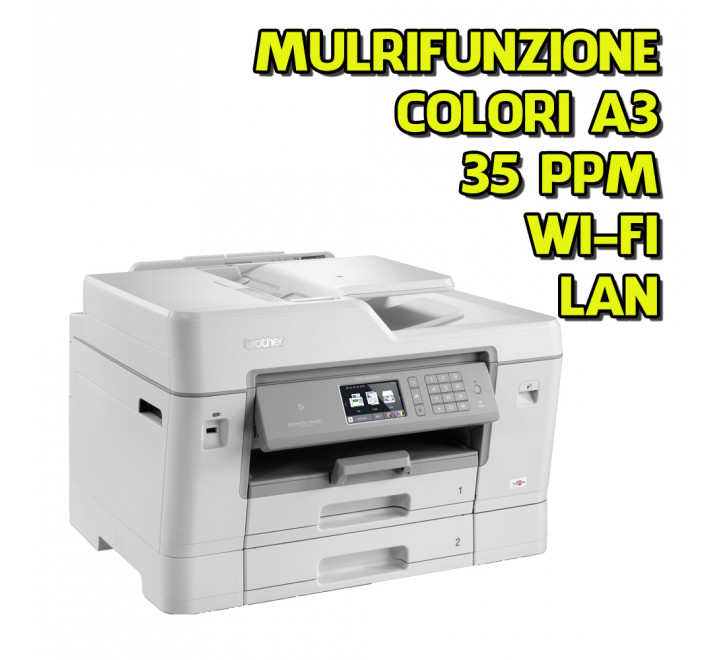 Stampante nuova Brother MFC-J6935DW LAN WI-FI A3 Multifunzione Scanner Laser a colori Toner 35ppm