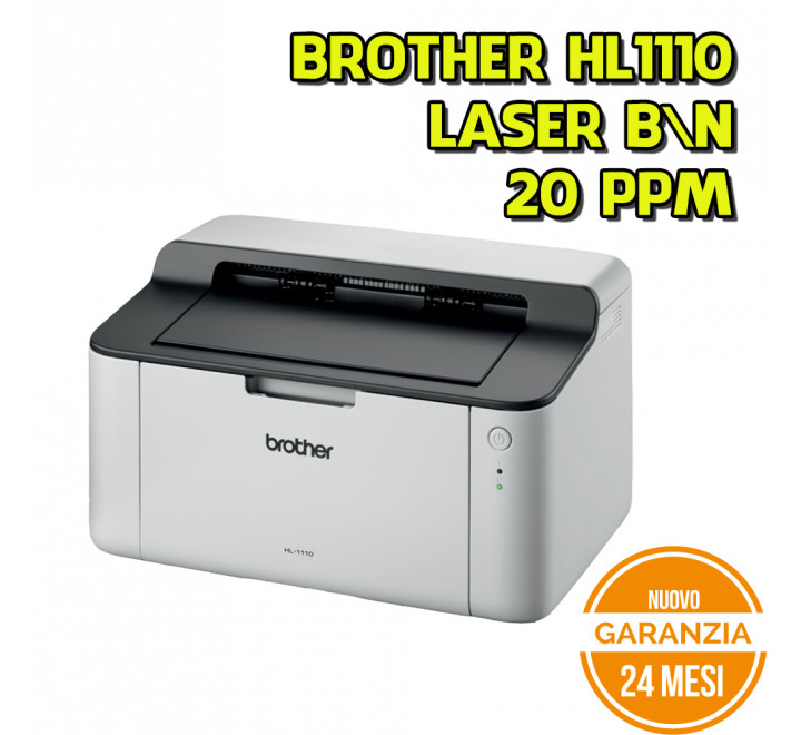 Stampante Laser Brother HL-1110 Monocromatica B\N 20 PPM - Nuovo