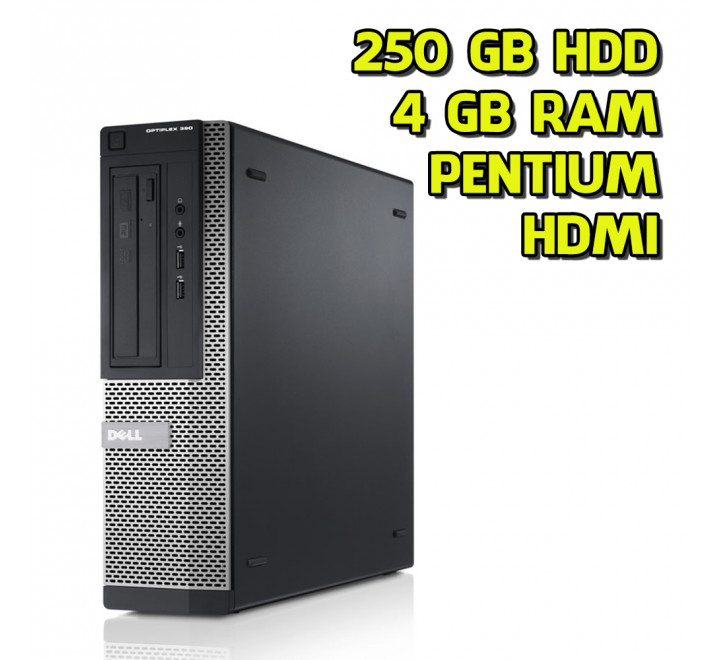 Desktop usato Dell Optiplex 390 Intel Pentium G630 2.70GHz 4GB Ram 250GB HDD Win 10 Pro