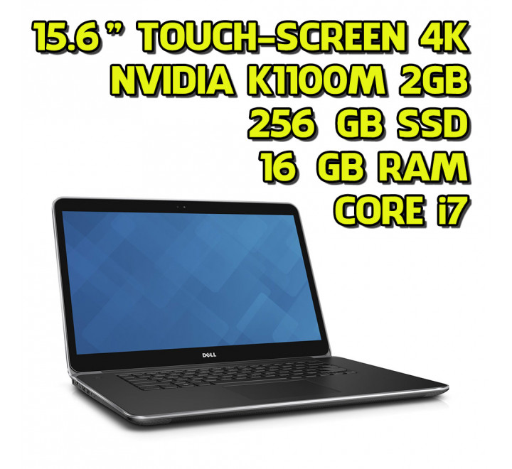"Notebook Dell Precision M3800 15,6"" Touchscreen Intel Core i7-4712HQ 2,30GHz 16GB Ram 256GB SSD Nvidia Quadro K1100M 2GB Win 10 Pro"
