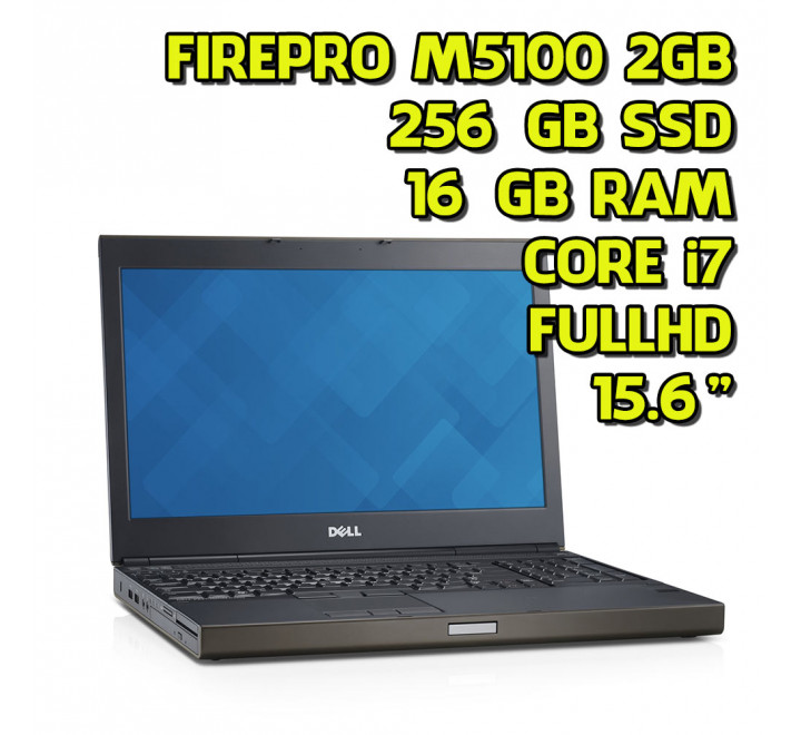 "Notebook Dell Precision M4800 15,6"" Intel Core i7-4800MQ 2,70GHz 16GB Ram 256GB SSD AMD FirePRO M5100 2GB Win 10 Pro"