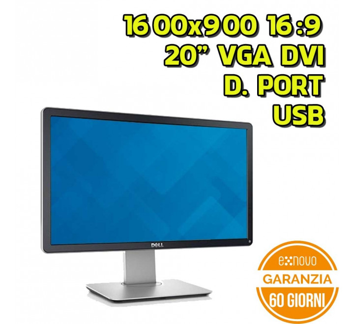 "Monitor Dell P2014H 20"" 1600x900 16:9 VGA DVI USB Display Port"