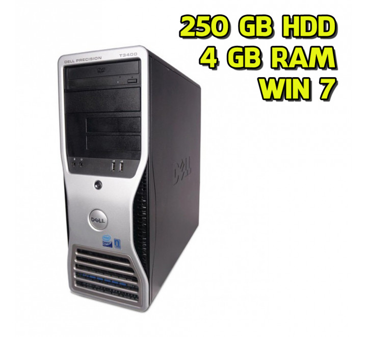 Desktop usato Dell T3400 Intel Core 2 Duo E6560 2.33GHz 4GB Ram 250GB HDD Win 7 Pro