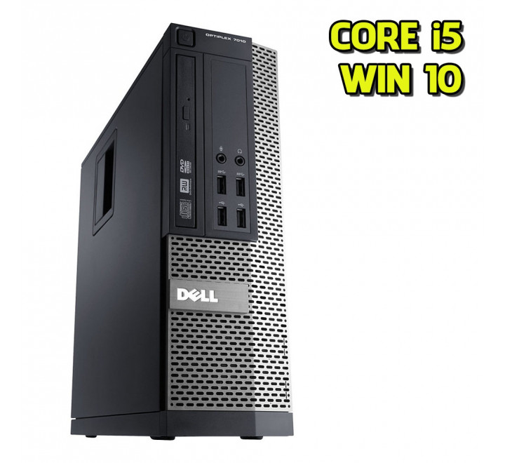 Desktop Dell 7010 SFF Intel Core i5-3570 3,40GHz 4GB Ram 250GB HDD DVD Win 10 Pro