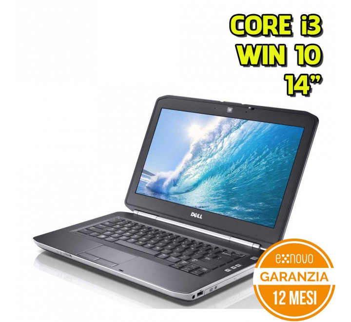 "Notebook Dell E5420 14"" Intel Core i3-2330M 2,20GHz 4GB Ram 250GB HDD Win 10 Pro - Grado B"