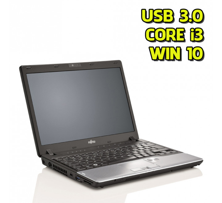"Notebook Fujitsu P702 12,1"" Intel Core i3-3120M 2,50GHz 4GB Ram 250GB HDD Win 10 Pro"