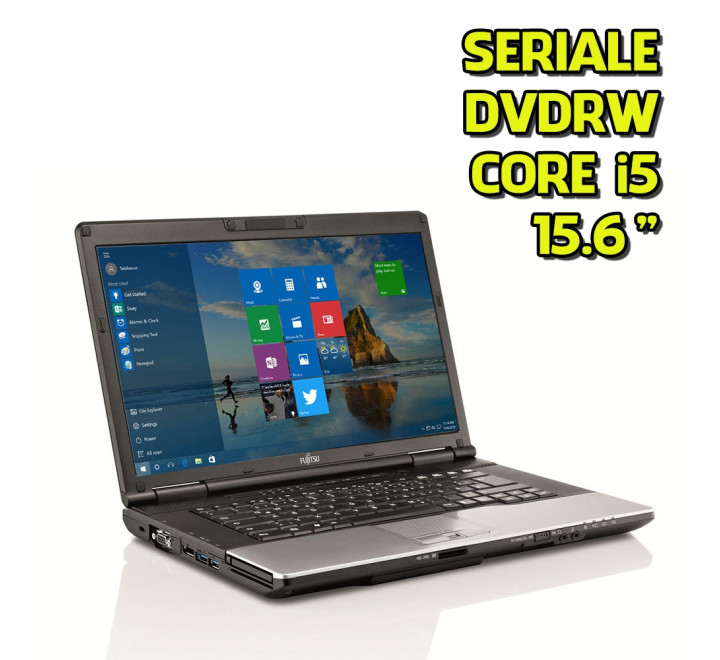 "Notebook Fujitsu E752 15,6"" Intel Core i5-3210M 2,50GHz 4GB Ram 320GB HDD DVDRW Win 10 Pro"