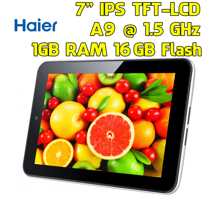 Tablet NUOVO Haier PAD 712 A9 1.50GHz 1GB RAM 16GB HDD Android 4.0