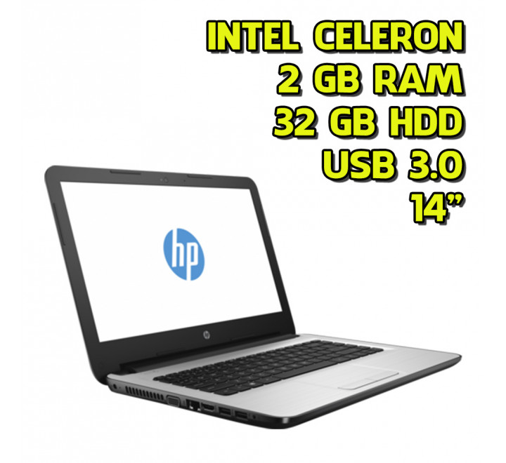 Notebook renew HP 14-AM022NL Intel Celeron N3060 2GB Ram 32GB HDD Windows 10 Home