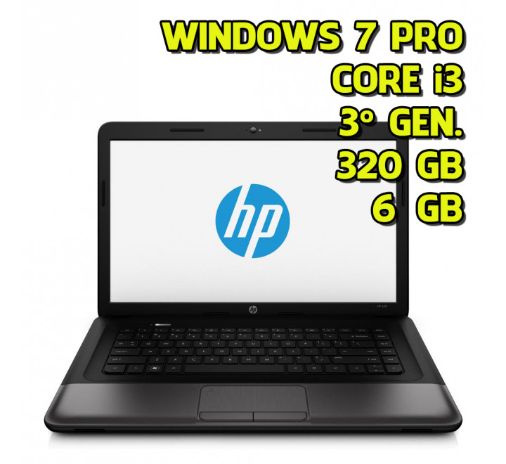 Notebook usato HP 250 G1 Intel Core i3 3110 @ 2.40GHz 6GB Ram 320GB HDD Windows 7 Professional