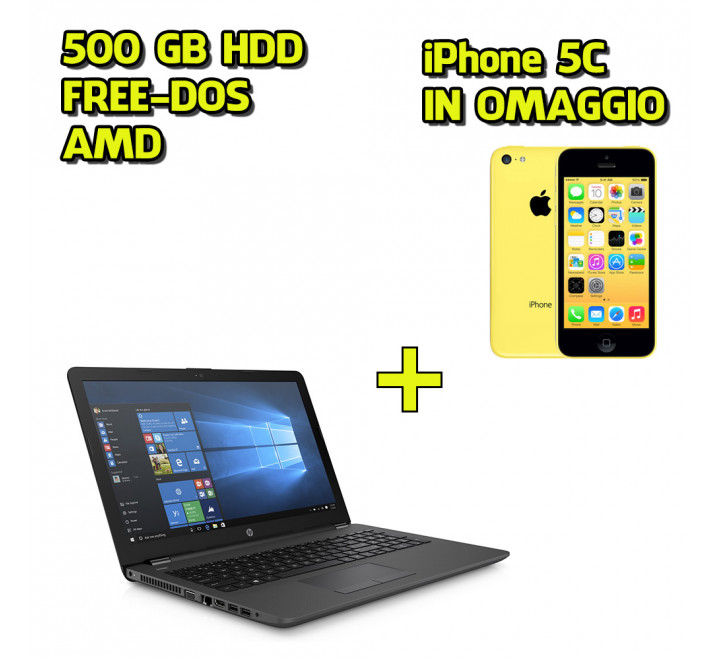 Notebook HP 255 G6 + Apple iPhone 5C 8GB Giallo - Promo Speciale