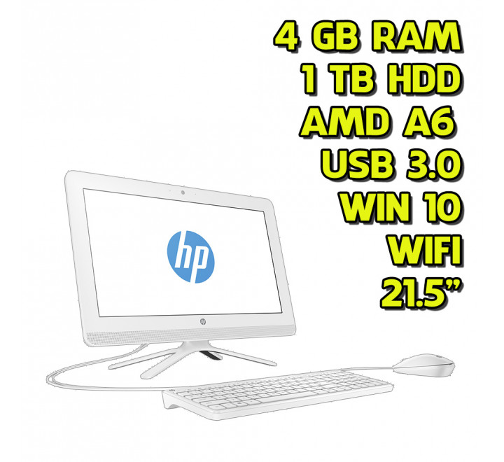 All in One renew HP 22-B003NL AMD A6-7310 2.00GHz 4GB Ram 1TB HDD Win 10 Home