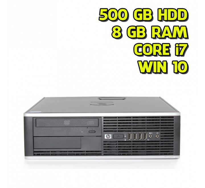 Desktop usato HP 8100 SFF Intel Core i7-860 2.80 GHz 8GB Ram 500GB HDD Win 10 Pro