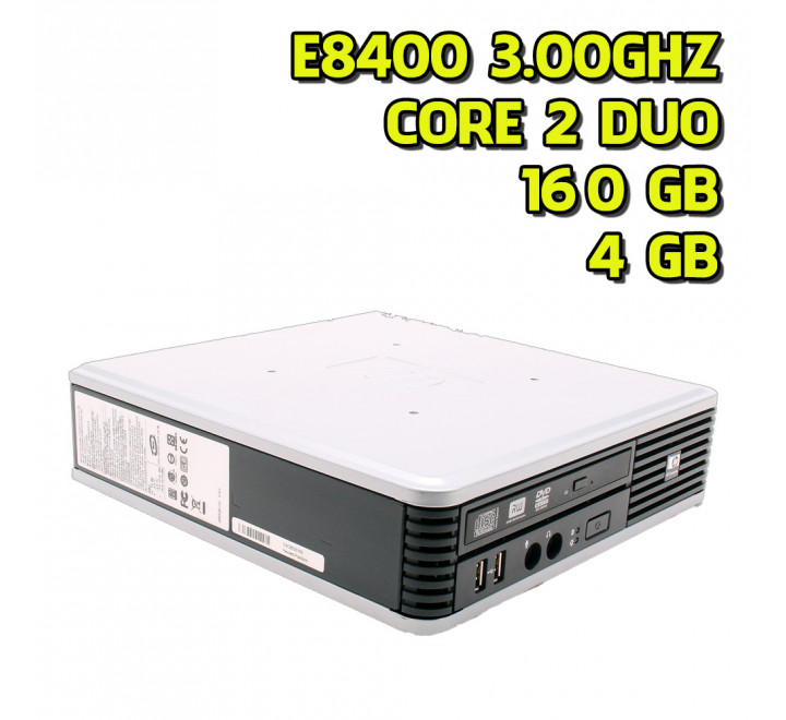 Desktop ricondizionato HP DC7900 USFF Intel Core 2 Duo E8400 3.00GHz 4GB Ram 160GB HDD Win 7 Pro