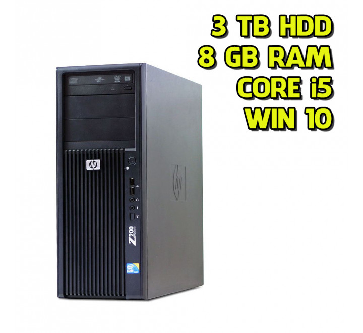Workstation usata HP Z200 Intel Core i5-660 3.33GHz 8GB Ram 3TB HDD Win 10 Pro