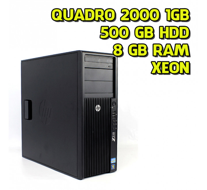 Workstation usato HP Z210 Intel Xeon E3-1225 3,10GHz 8GB Ram 500GB HDD Nvidia Quadro 2000 Win 10 Pro