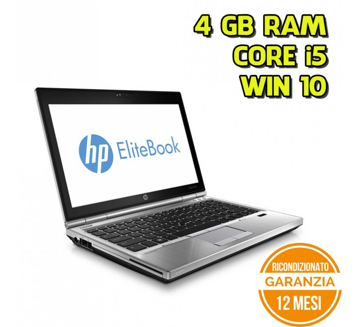 "Notebook HP 2570P 12,5"" Intel Core i5-3320M 2,60GHz 4GB Ram 320GB Win 10 Pro - Grado A"