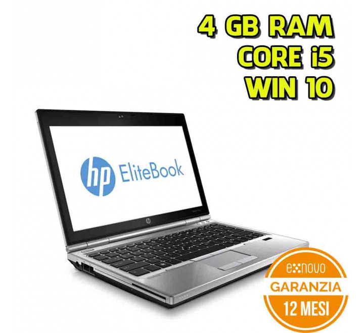 "Notebook HP 2570p 12,5"" Intel Core i5-3340M 2,70GHz 4GB Ram 320GB Win 10 Pro - Grado B"