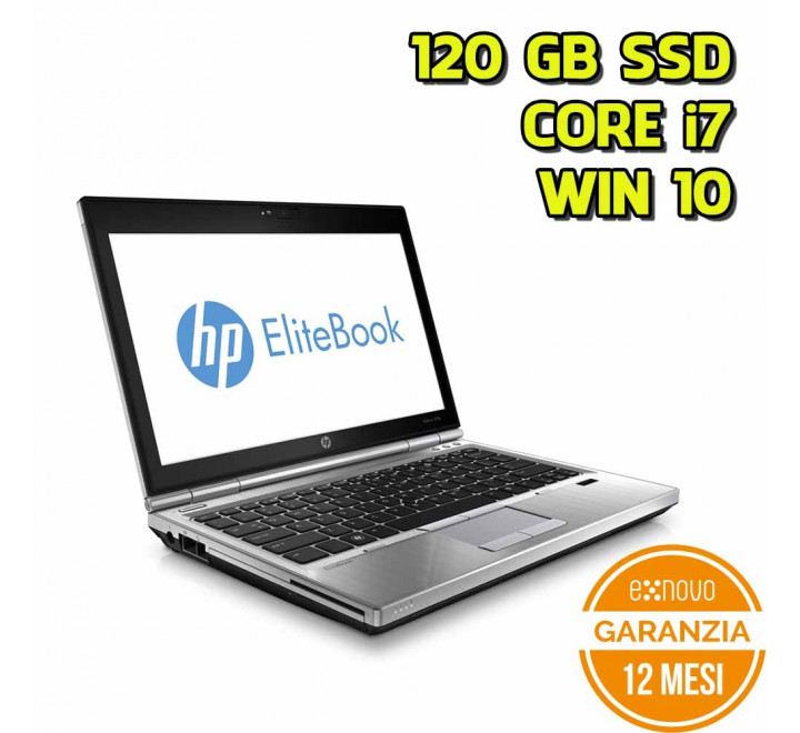 "Notebook HP 2570P 12,5"" Intel Core i7-3520M 2,90GHz 4GB Ram 120GB SSD Win 10 Pro - Grado A"