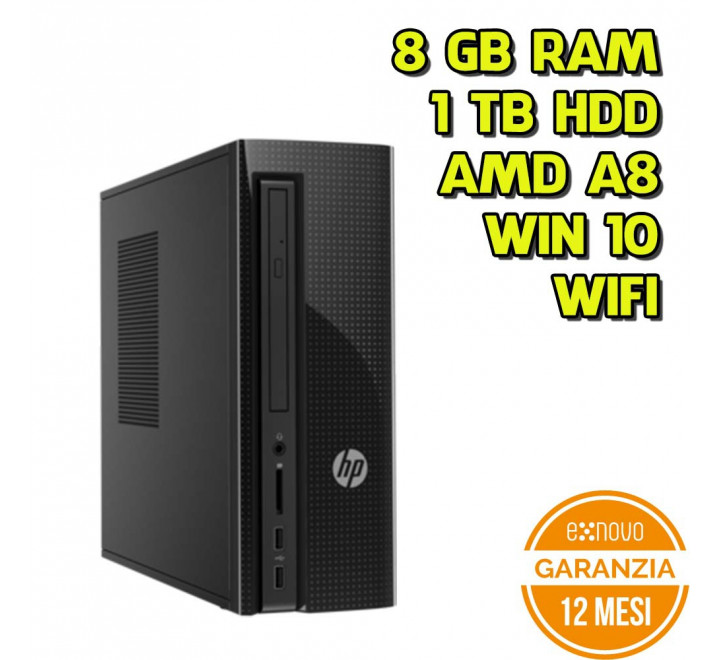 Desktop HP Slimline 260-A103NL AMD A8-7410 2.20GHz 8GB Ram 1TB HDD Win 10 Home