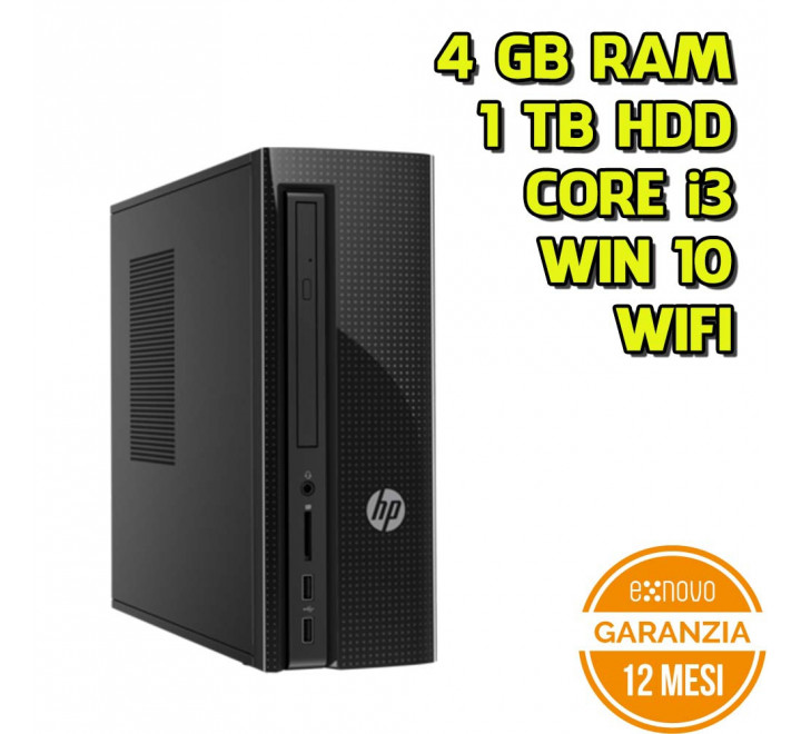 Desktop HP 260-P100NL Intel Core i3-6100T 3.20GHz 4GB Ram 1TB HDD Win 10 Home