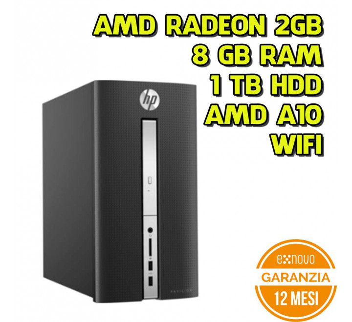 Desktop HP Pavillion 510-P105NL AMD A10-9700 3.50GHz 8GB Ram 1TB HDD Radeon R5 2GB Win 10 Home