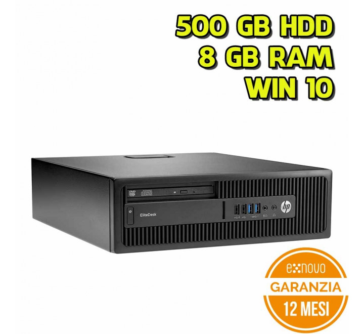 Desktop HP 600 G1 SFF Intel Pentium G3220 3,00GHz 8GB Ram 500GB HDD DVD Win 10 Pro - Grado A