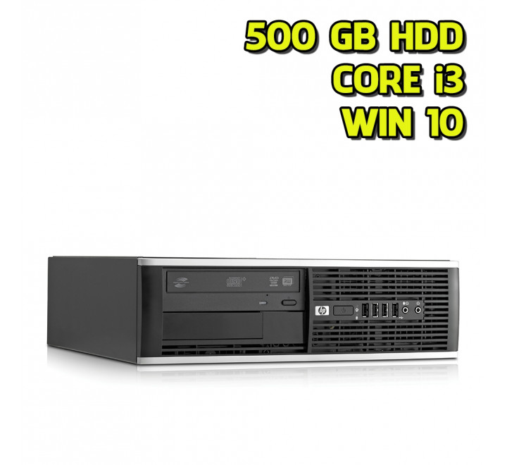 Desktop HP 6300 SFF Intel Core i3-2120 3,30GHz 4GB Ram 500GB HDD DVDRW Win 10 Pro