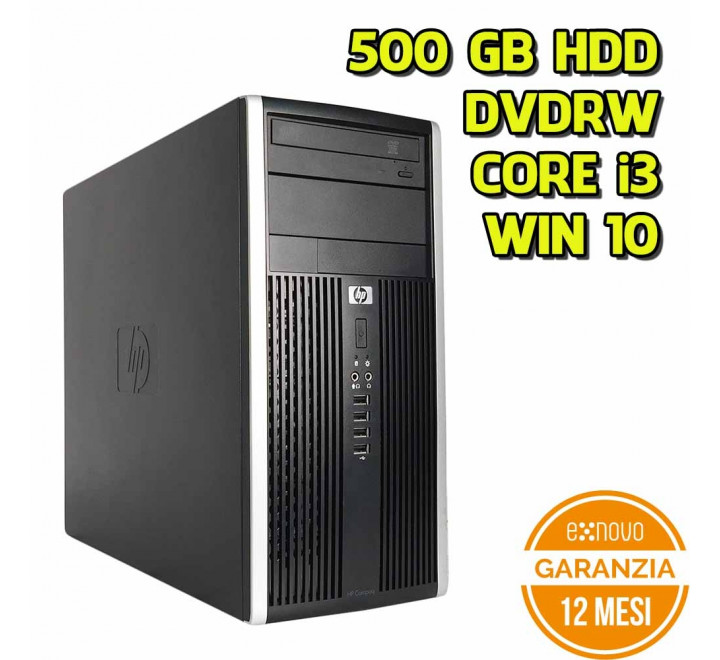 Desktop HP 6300 Tower Intel Core i3-3220 3,30GHz 4GB Ram 500GB HDD DVDRW Win 10 Pro