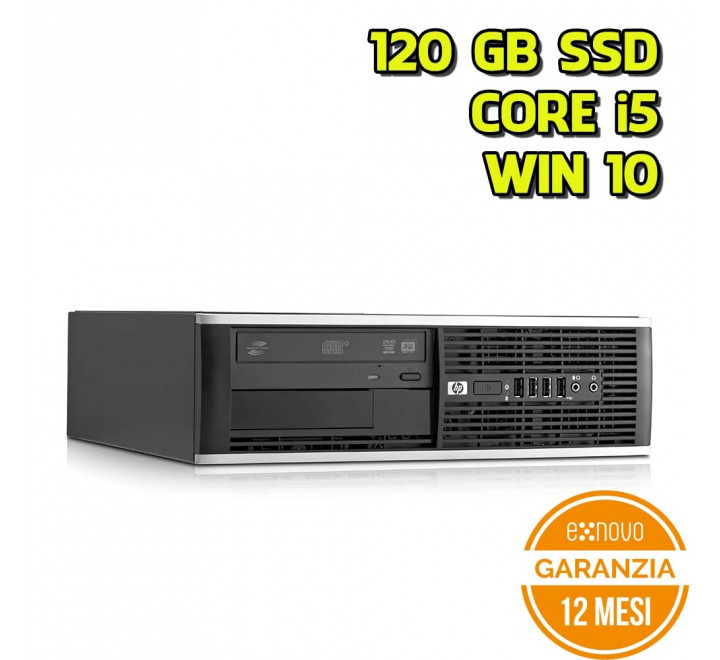 Desktop HP 6300 SFF Intel Core i3-3220 3,30GHz 4GB Ram 120GB SSD DVDRW Win 10 Pro - Grado A