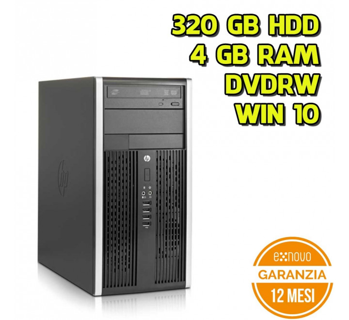 Desktop HP 8000 Tower Intel Core 2 Duo E8400 3,00GHz 4GB Ram 320GB HDD DVDRW Win 10 Pro - Grado A