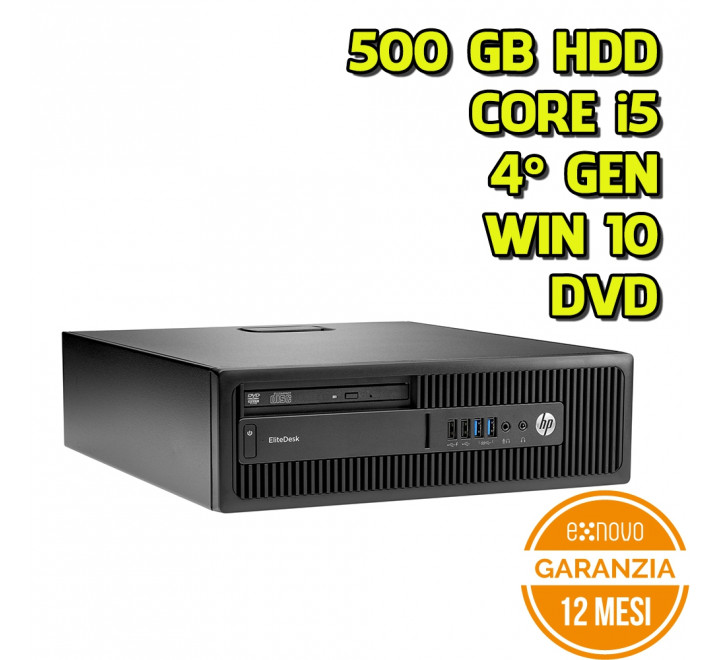 Desktop HP 800 G1 SFF Intel Core i5-4570 3,20GHz 4GB Ram 500GB HDD DVD Win 10 Pro