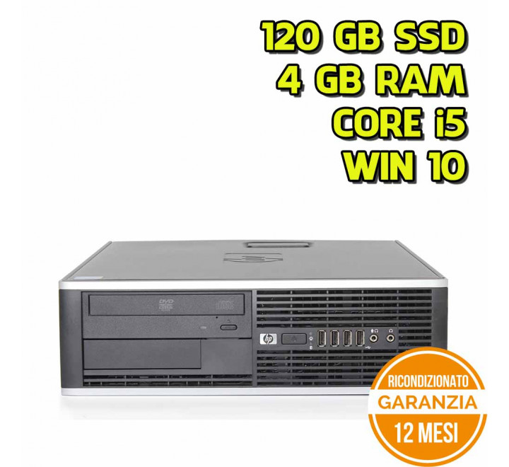 Desktop HP 8100 SFF Intel Core i5-660 3,33GHz 4GB Ram 120GB SSD DVDRW Win 10 Pro