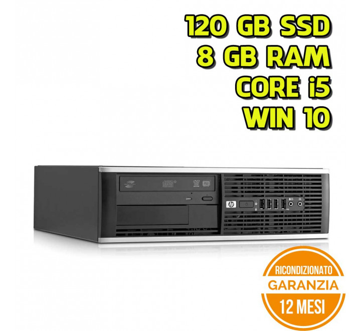 Desktop HP 8300 SFF Intel Core i5-3470 3,20GHz 8GB Ram 120GB SSD DVD Win 10 Pro - Grado B