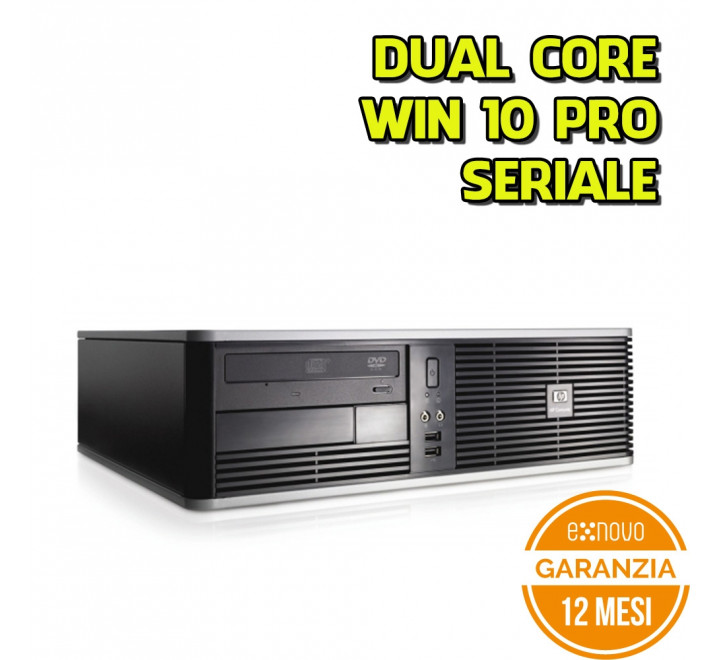 Desktop HP DC7800 SFF Intel Core 2 Duo E6550 2.33GHz 4GB Ram 160GB HDD DVDRW Win 10 Pro
