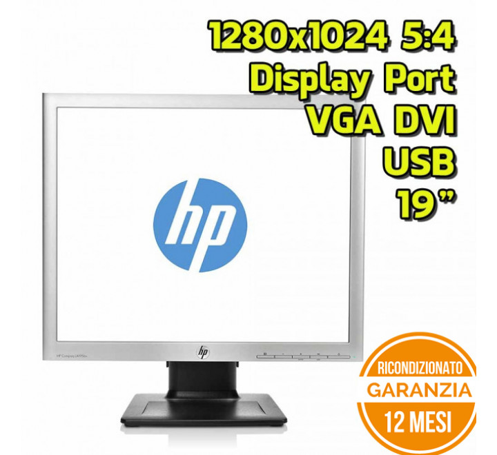 "Monitor HP LA1956X 19"" 1280x1024 5:4 VGA DVI Display Port USB - Grado B"