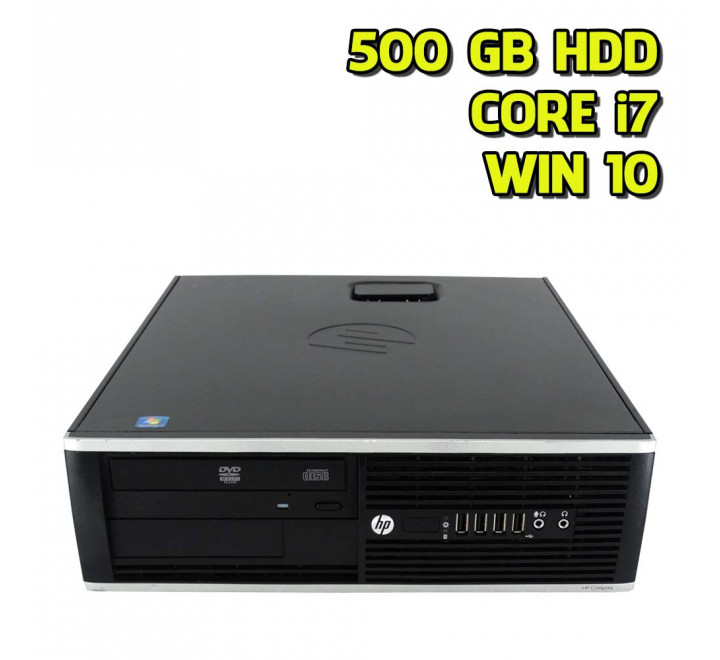 Dekstop HP 8300 SFF Intel Core i7-3770 3,40GHz 4GB Ram 500GB HDD DVD Win 10 Pro - Grado B