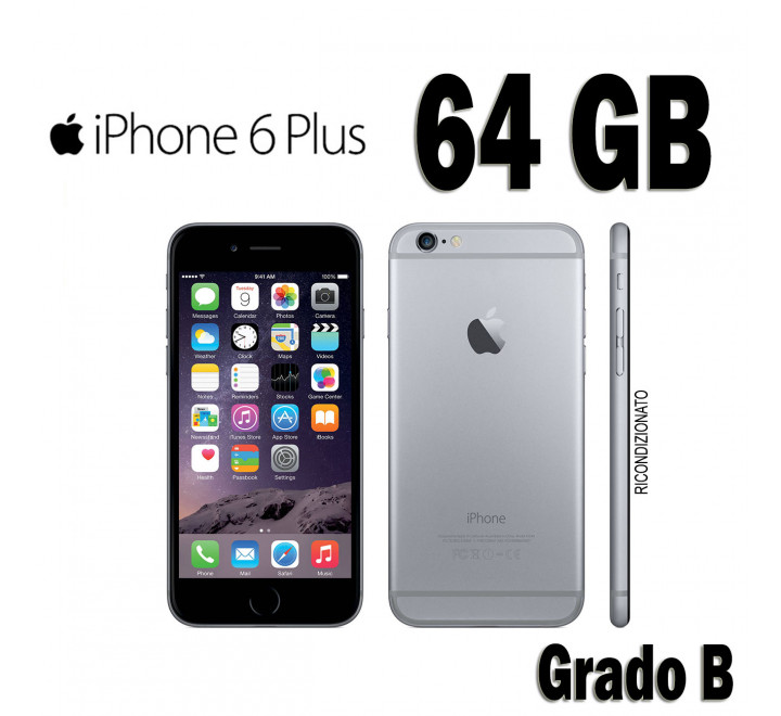 Apple iPhone 6 Plus Ricondizionato 64GB Spacegray - Grado B